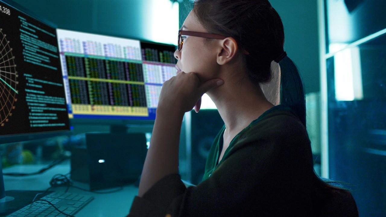 female tech worker